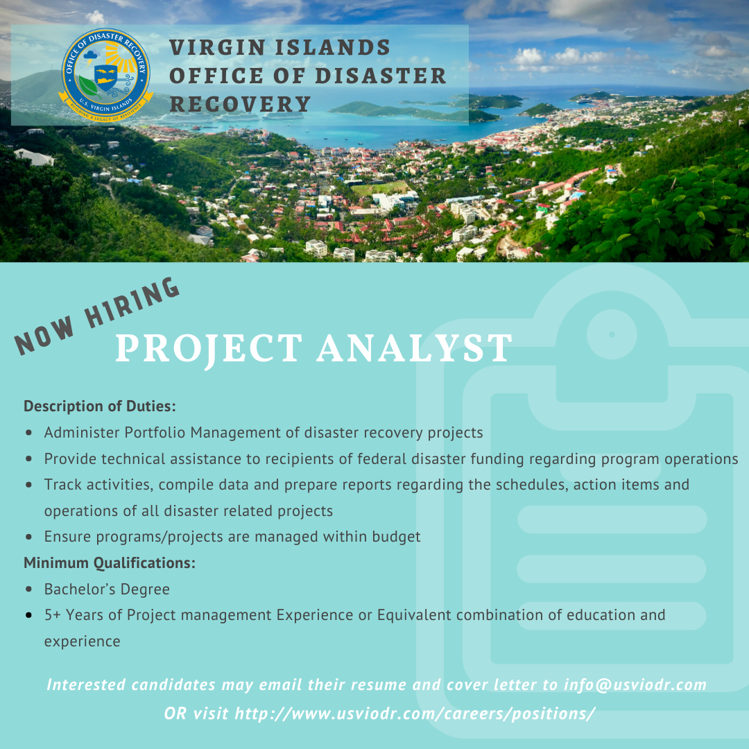 ODR is Searching for a Project Analyst on St. Croix and St ...